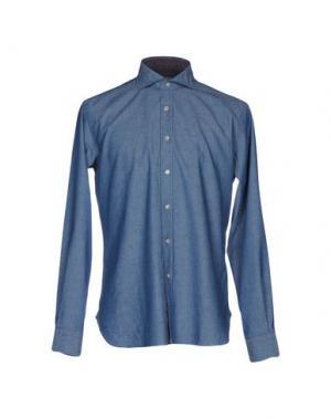 Джинсовая рубашка INGRAM. Цвет: синий