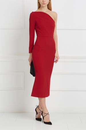 Однотонное платье Linvan Roland Mouret. Цвет: красный