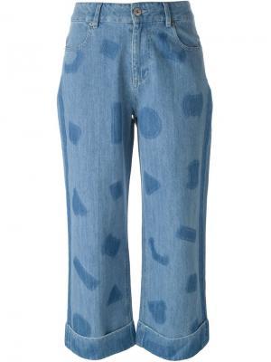Широкие джинсы с принтом Each X Other. Цвет: синий