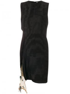 Платье шифт с боковой отделкой Toga. Цвет: чёрный
