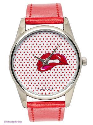 Часы Mitya Veselkov Губы. Цвет: красный