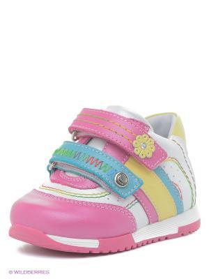 Ботинки ELEGAMI. Цвет: фуксия, желтый, белый, голубой