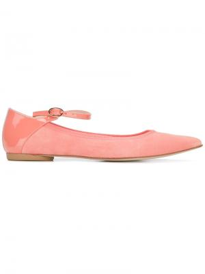 Buckled strap ballerinas Repetto. Цвет: розовый и фиолетовый