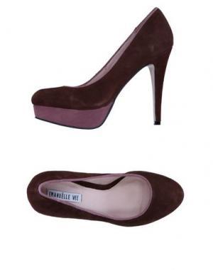 Туфли EMANUÉLLE VEE. Цвет: темно-коричневый