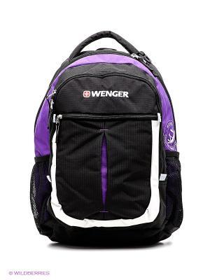 Рюкзак WENGER. Цвет: черный, фиолетовый