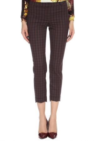 Укороченные брюки с застежкой на молнию YARMINA. Цвет: бордовый