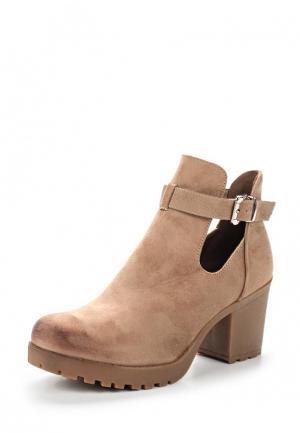 Ботильоны Ideal Shoes. Цвет: бежевый