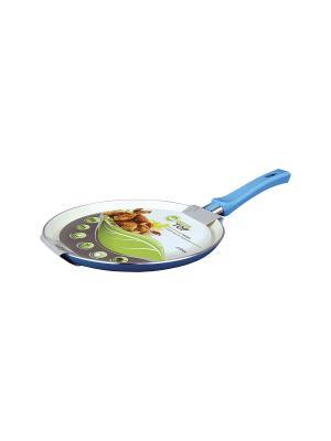 Сковорода блинная 22х1,7см Green Top. Цвет: синий