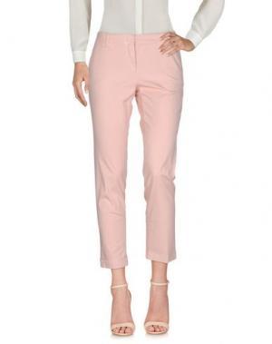 Повседневные брюки CAPPELLINI by PESERICO. Цвет: светло-розовый