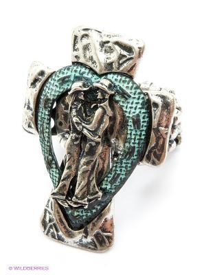 Кольцо AVGAD. Цвет: серебристый, бирюзовый