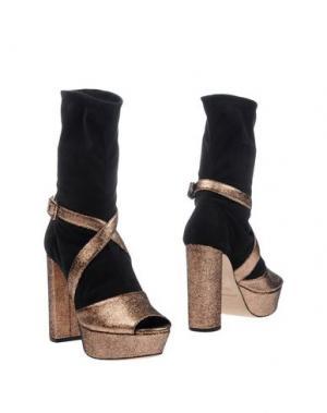 Полусапоги и высокие ботинки GIANNA MELIANI. Цвет: медный