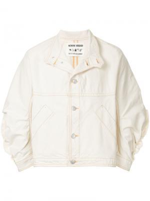 Джинсовая куртка Johnny Henrik Vibskov. Цвет: белый