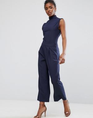Alter Укороченные брюки. Цвет: темно-синий
