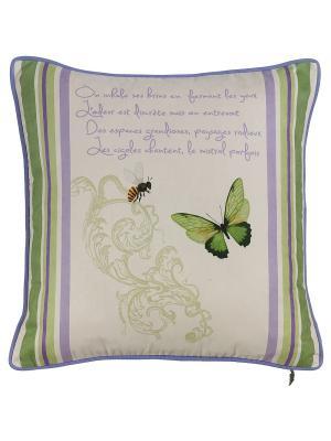 Декоративная наволочка Букет лаванды Apolena. Цвет: зеленый