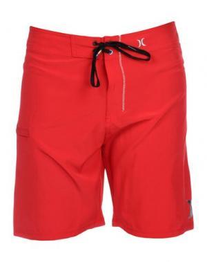 Пляжные брюки и шорты HURLEY. Цвет: красный