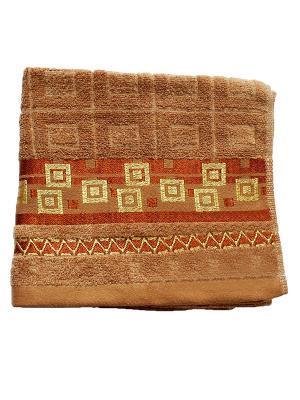 Полотенце Золотой квадрат 50х90 La Pastel. Цвет: коричневый