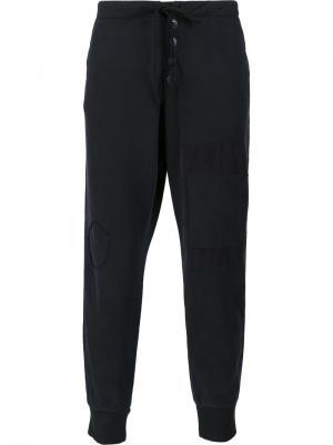 Спортивные брюки свободного кроя Greg Lauren. Цвет: чёрный