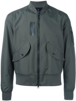 Куртка-бомбер Yang Li. Цвет: зелёный