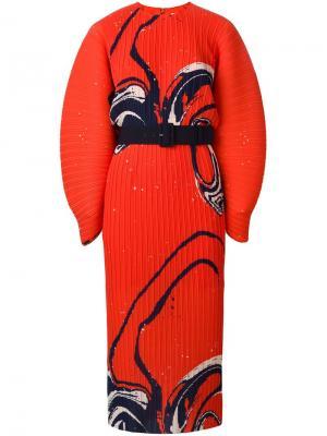 Платье Singer Solace. Цвет: красный