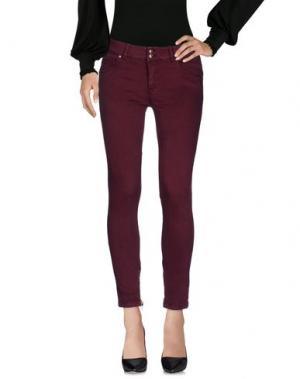 Повседневные брюки KOCCA. Цвет: красно-коричневый
