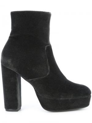 Ботинки на наборном каблуке Elysewalker Los Angeles. Цвет: серый