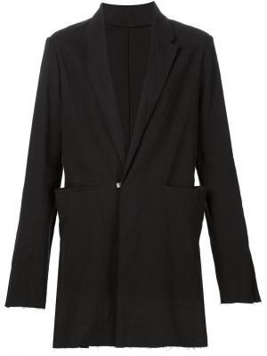 Удлиненный пиджак Ma+. Цвет: чёрный