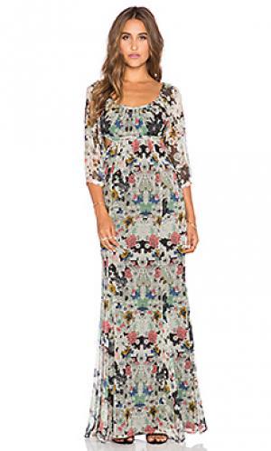 Богемное макси платье с вырезом Twelfth Street By Cynthia Vincent. Цвет: черный
