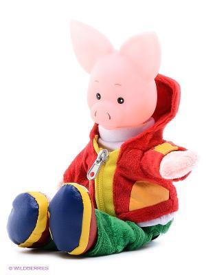 Игрушка мягкая Хрюша Мульти-пульти. Цвет: красный, розовый, желтый, зеленый