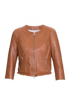 Кожаная куртка 160504 Diego M. Цвет: коричневый