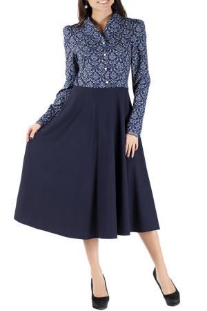 Платье Mannon. Цвет: сине-голубой