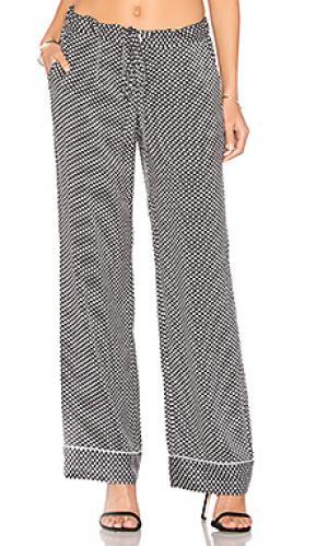 Пижамные брюки avery Equipment. Цвет: black & white