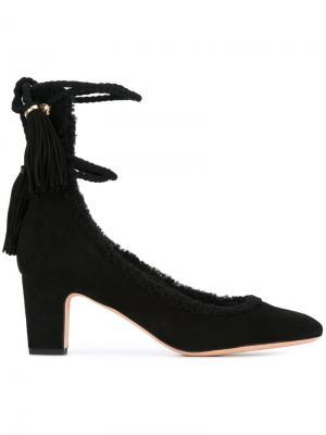 Туфли с кисточками Rochas. Цвет: чёрный