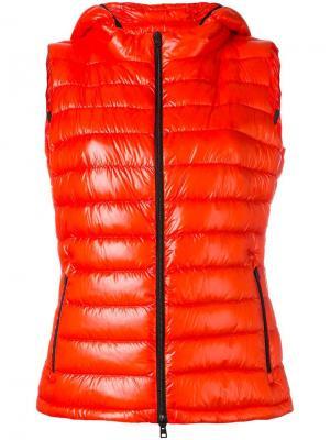 Пуховый жилет с капюшоном Herno. Цвет: красный
