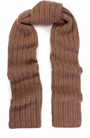 Кашемировый шарф фактурной вязки William Sharp. Цвет: коричневый
