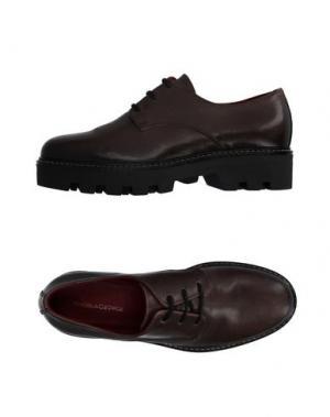 Обувь на шнурках ANGELA GEORGE. Цвет: свинцово-серый