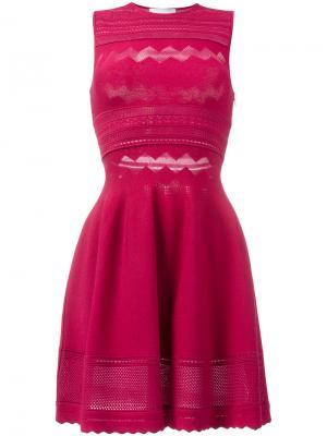Короткое приталенное платье Zuhair Murad. Цвет: розовый и фиолетовый
