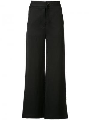 Расклешенные брюки Lee Mathews. Цвет: чёрный