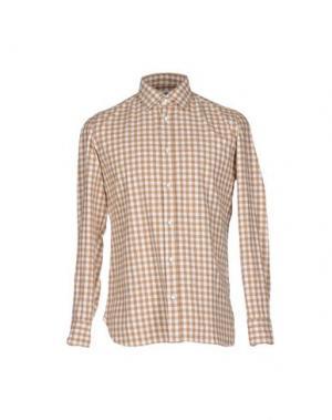 Pубашка LUIGI BORRELLI NAPOLI. Цвет: бежевый