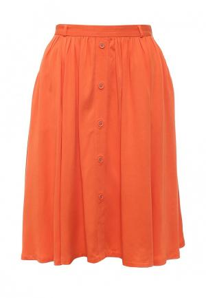 Юбка Zarina. Цвет: оранжевый