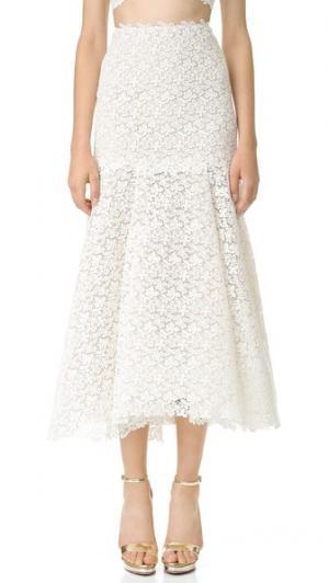 Кружевная юбка Delia Monique Lhuillier. Цвет: золотой