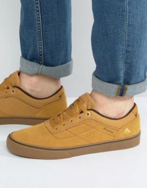 Emerica Светло-коричневые кроссовки Herman. Цвет: бежевый