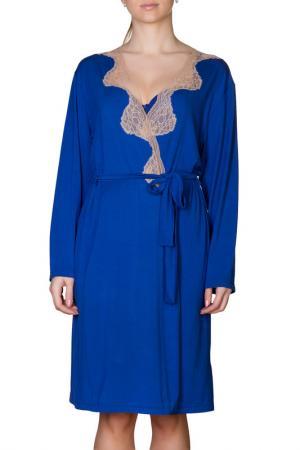 Халат Rose&Petal Homewear. Цвет: голубой