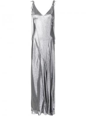 Платье Marisa Attico. Цвет: металлический