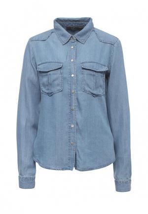 Рубашка джинсовая Love Republic. Цвет: голубой
