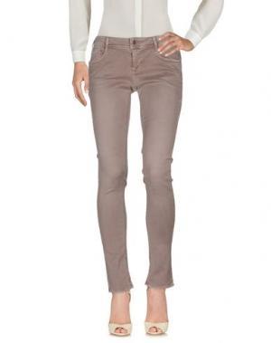 Повседневные брюки CIMARRON. Цвет: голубиный серый