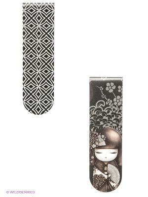 Набор закладок Шигеми Kimmidoll. Цвет: черный, белый