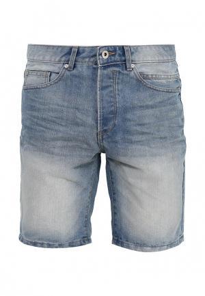 Шорты джинсовые Solid. Цвет: голубой