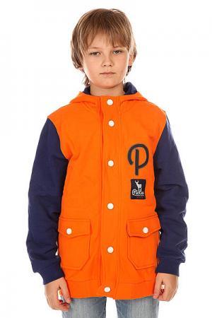 Бомбер детский  Deck Orange Picture Organic. Цвет: оранжевый,синий