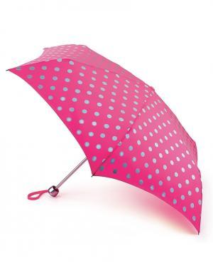 Зонт механический Горох  by Fulton Cath Kidston. Цвет: розовый