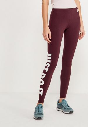 Леггинсы Nike. Цвет: бордовый